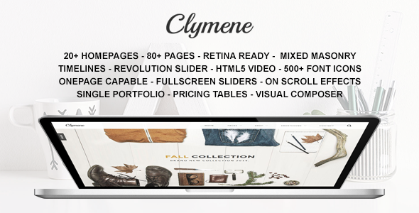 Clymene – Creative Multi-Purpose WordPress Theme