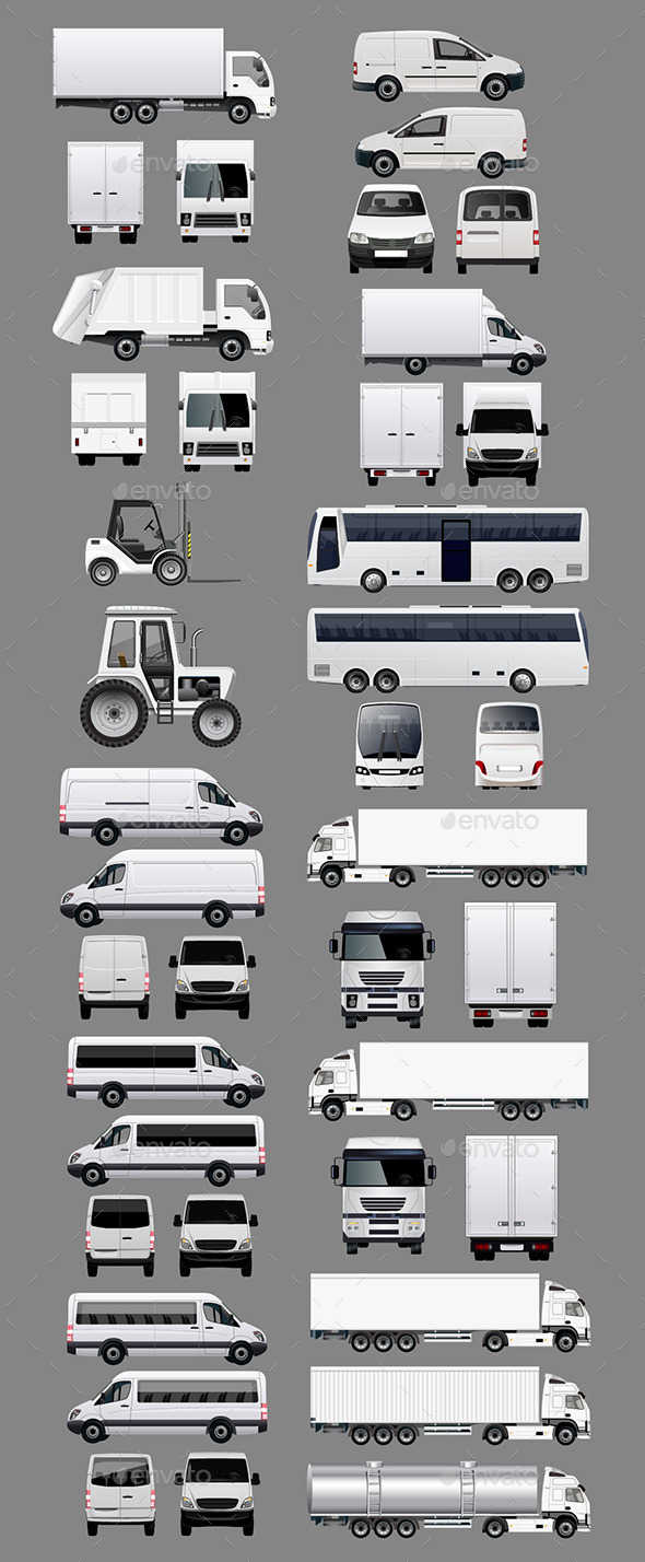 Set of Commercial Vehicles - Industries Business