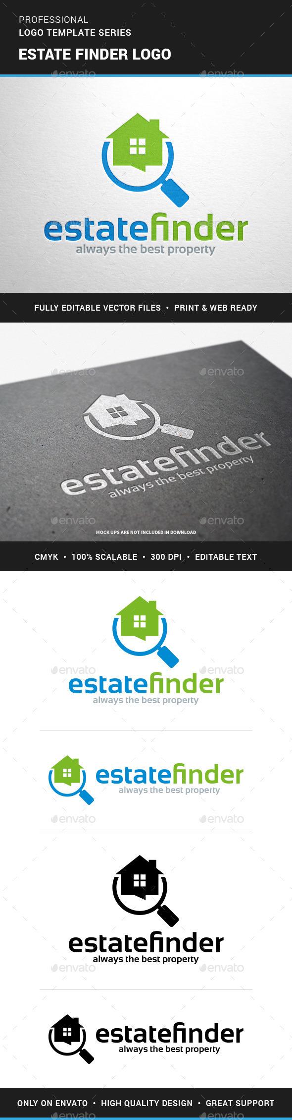 Estate Finder Logo Template - Buildings Logo Templates