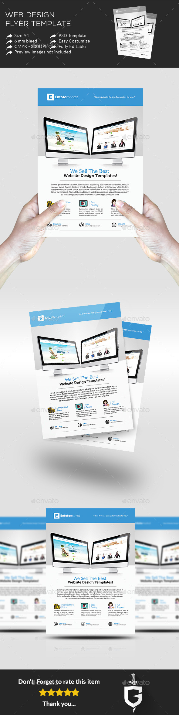 Web Design Flyer Template - Commerce Flyers