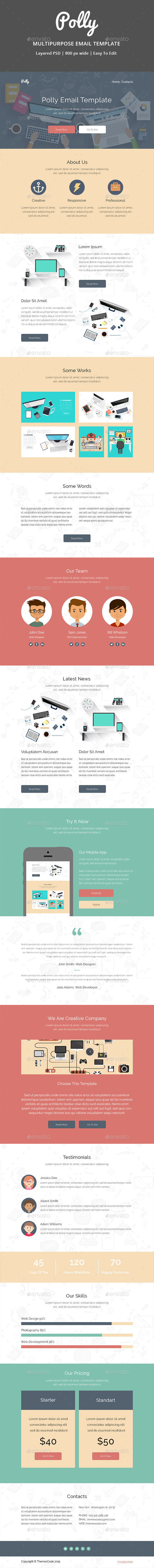 Polly - E-newsletters Web Elements