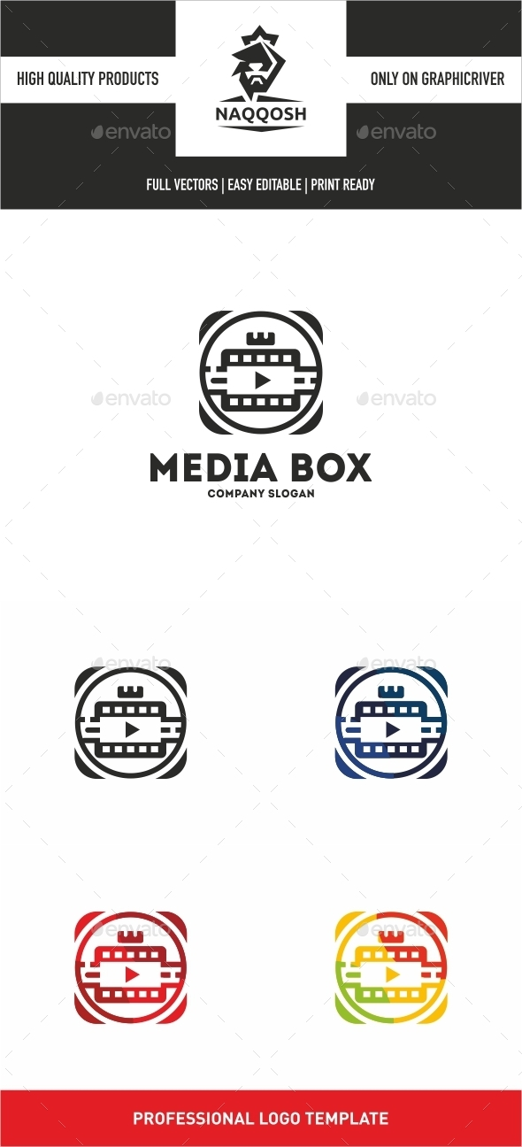 Media Box - Symbols Logo Templates