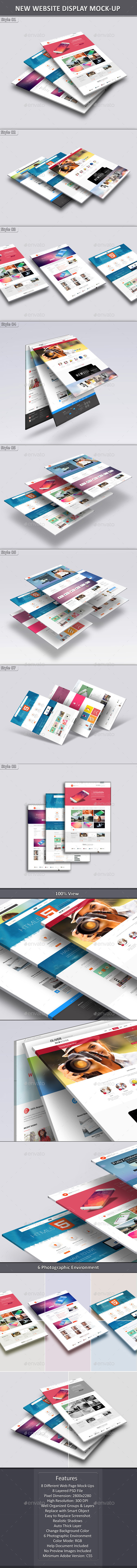 New Website Display Mock-Up - Website Displays