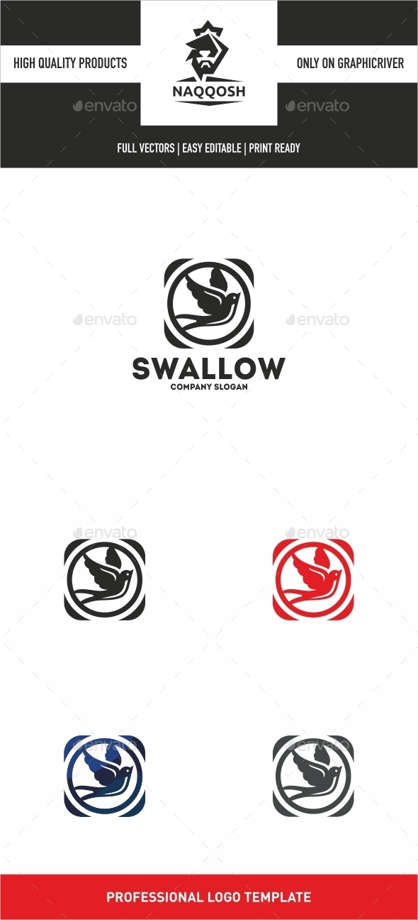Swallow - Animals Logo Templates