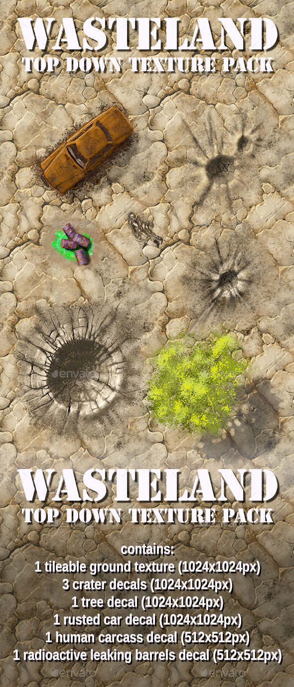 Wasteland Top Down Texture Pack