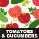 Tomatoes and Cucumbers - GraphicRiver Item for Sale