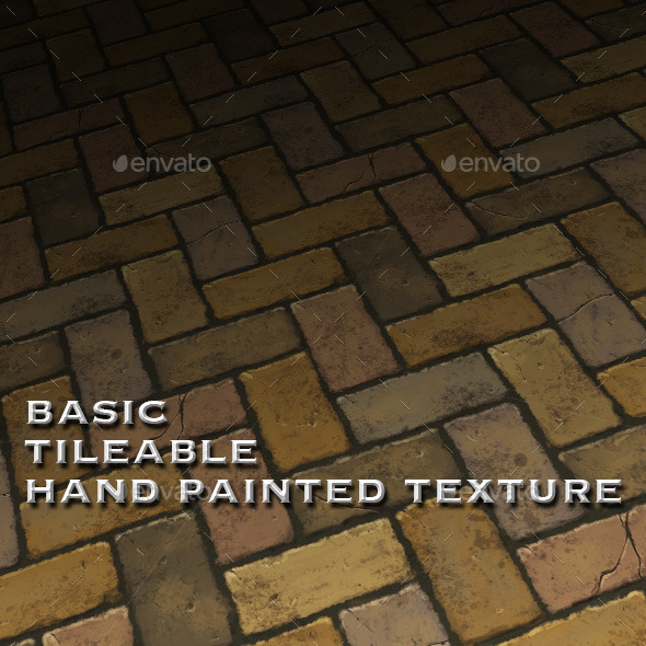 Basic Tile-able Brick Floor - Hand Painted - 3DOcean Item for Sale