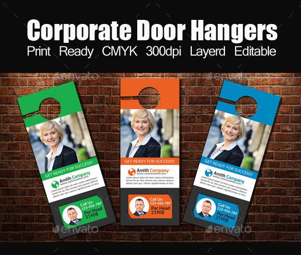 Corporate Door Hangers Template - Miscellaneous Events