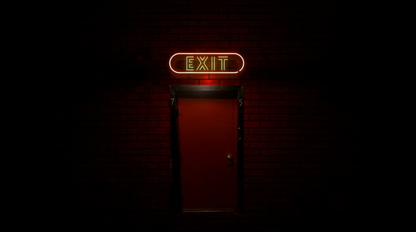 Red Back Door with Exit Neon Light Sign Flickering by IANM35 | VideoHive & Red Back Door with Exit Neon Light Sign Flickering by IANM35 ... Pezcame.Com