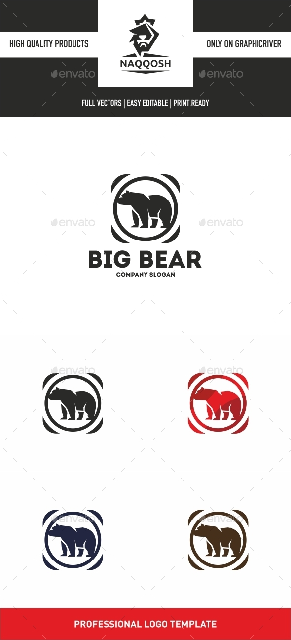 Big Bear - Animals Logo Templates
