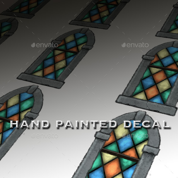 Stained Glass Window Decal