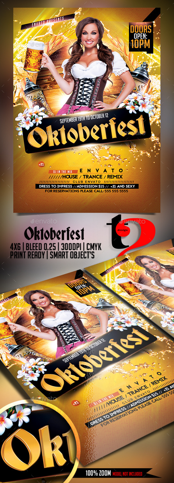 Oktoberfest - Festival Poster - Clubs & Parties Events