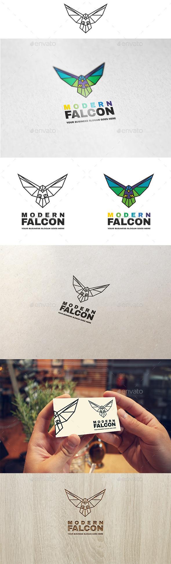 Modern Falcon Logo - Animals Logo Templates