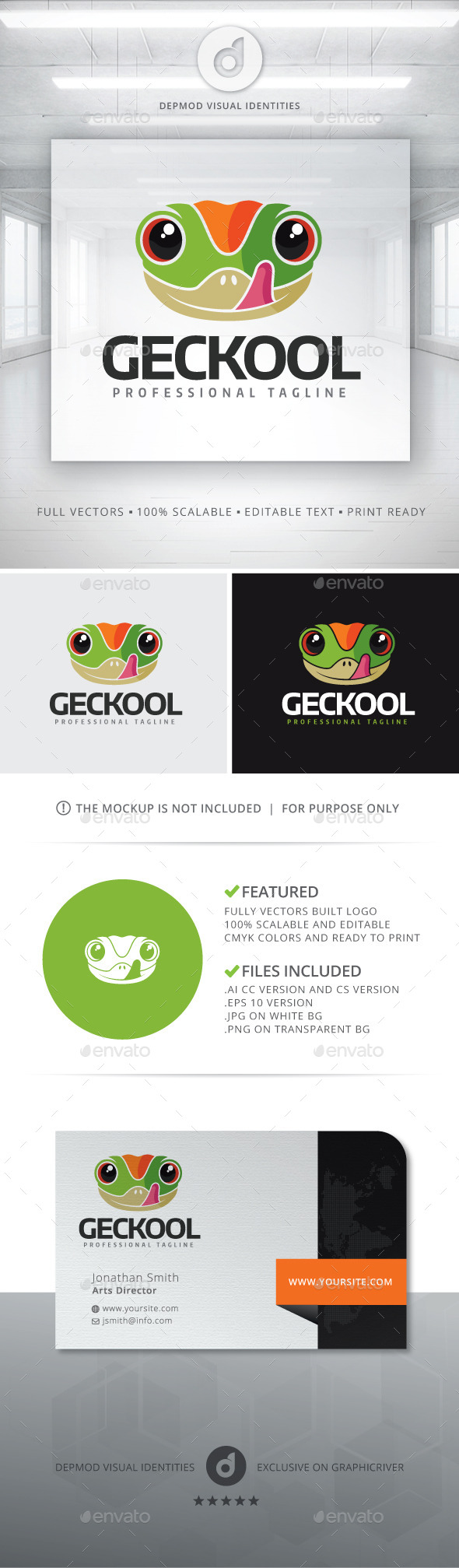 Geckool Logo - Animals Logo Templates