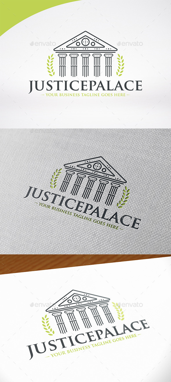 Justice Palace Logo Template - Buildings Logo Templates