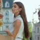 Beautiful Girl Walks Down The Street  - VideoHive Item for Sale