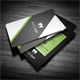 Black Green Corporate Business Card - GraphicRiver Item for Sale