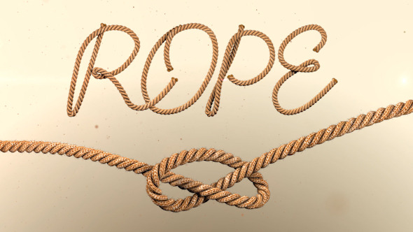 Animated Rope Text