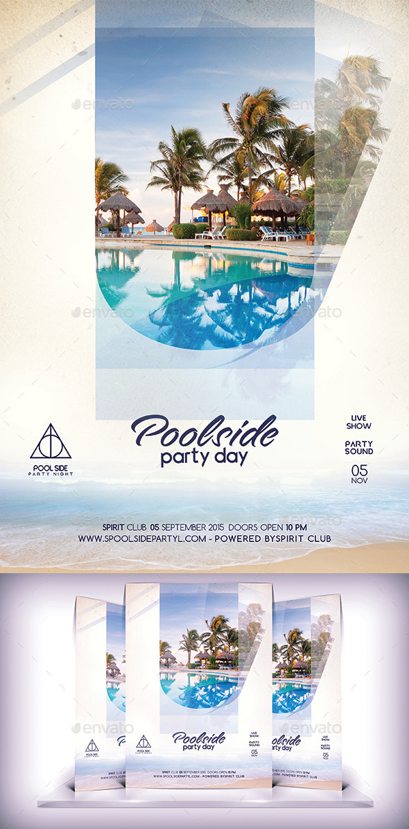 Pool Side Party Flyer Vol2 - Flyers Print Templates