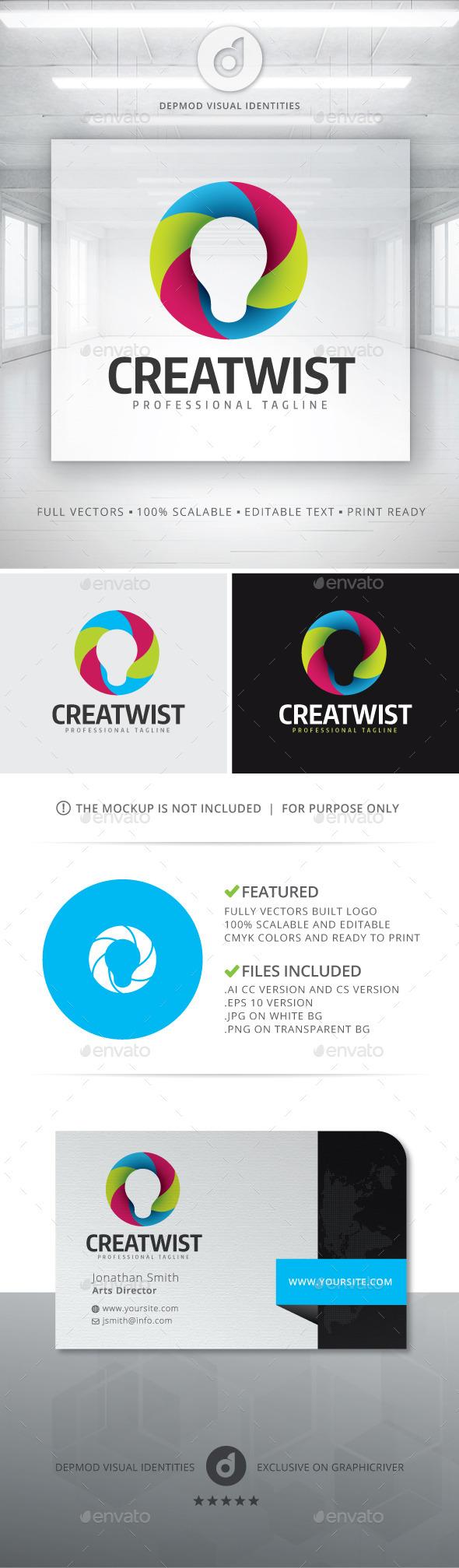 CreaTwist Logo - Symbols Logo Templates