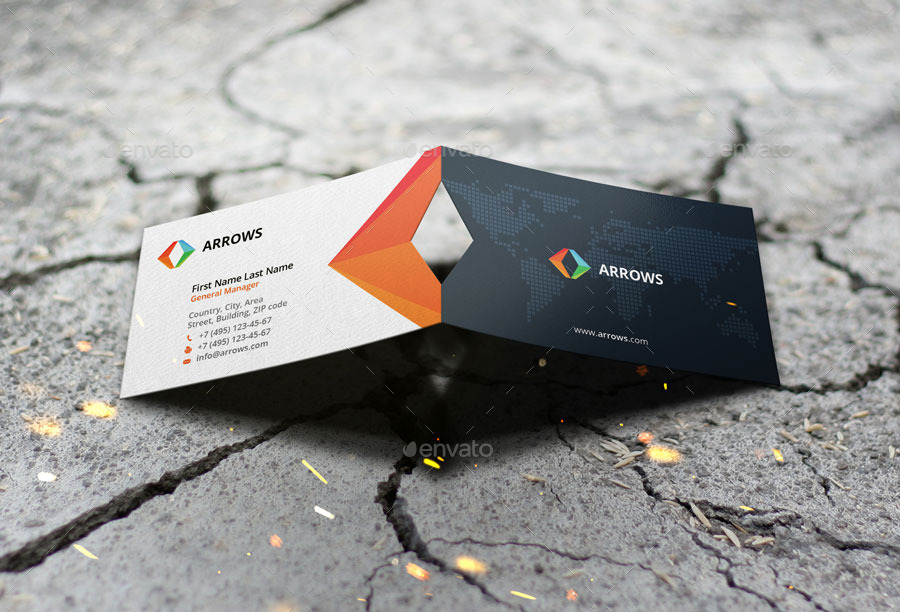 Indigo - Business Card Mock Up Die Cut v1.0 by VadimSoloviev ...
