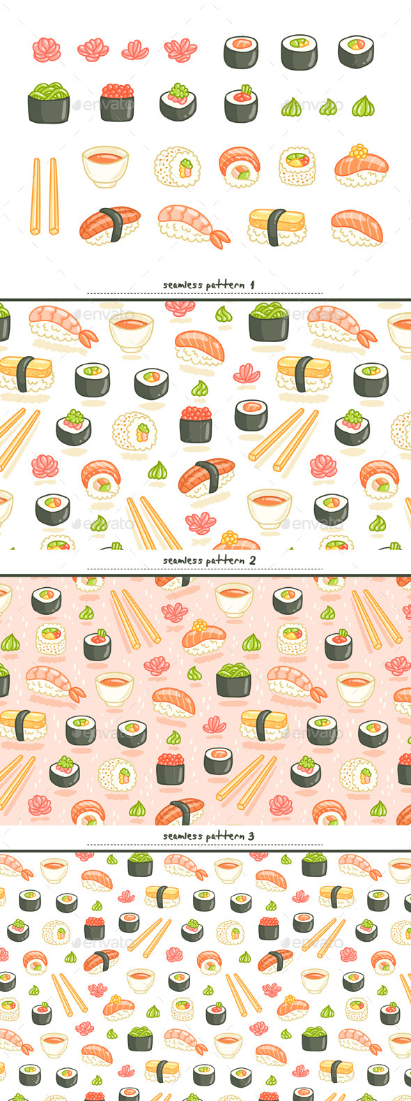 Sushi Set - Food Objects