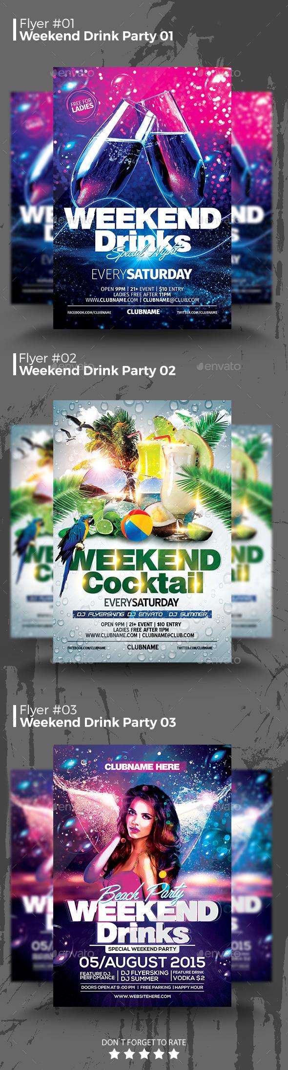 Weekend Drink Flyer Bundle
