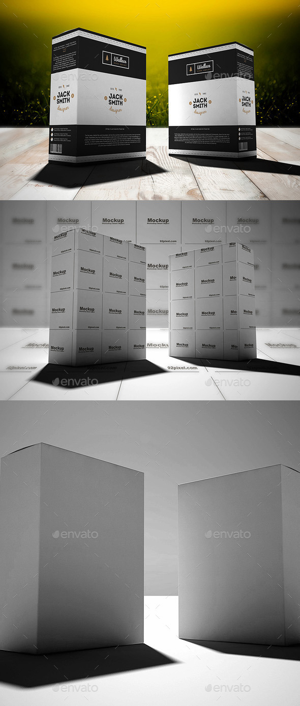 Product Box Mock Up - Packaging Product Mock-Ups