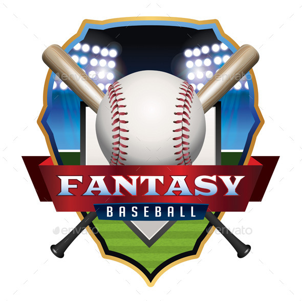 Fantasy Baseball Emblem Illustration - Sports/Activity Conceptual