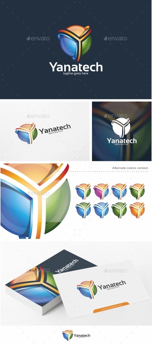 Yanatech / Y Letter - Logo Template - Letters Logo Templates