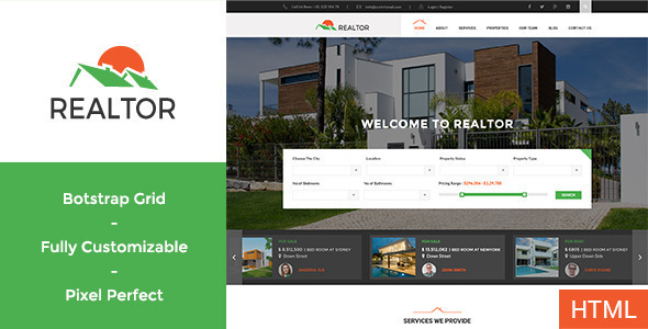 Realtor – Responsive Real Estate WordPress Theme
