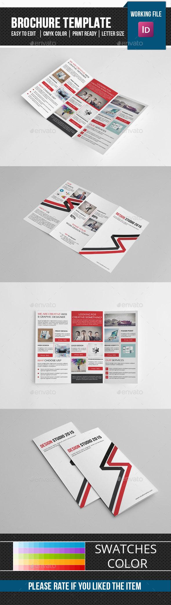 Design Studio Trifold Brochure-V244 - Corporate Brochures