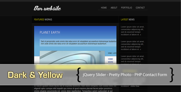Free Download Dark & Yellow Nulled Latest Version