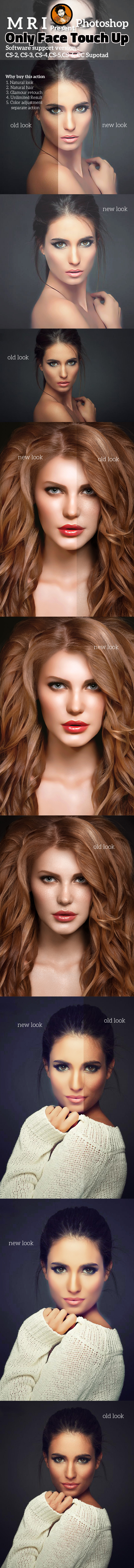 Only Face Touch Up - Actions Photoshop