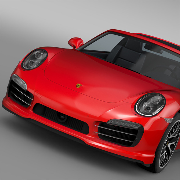 Porsche 911 Turbo S Targa 991 2016 - 3DOcean Item for Sale