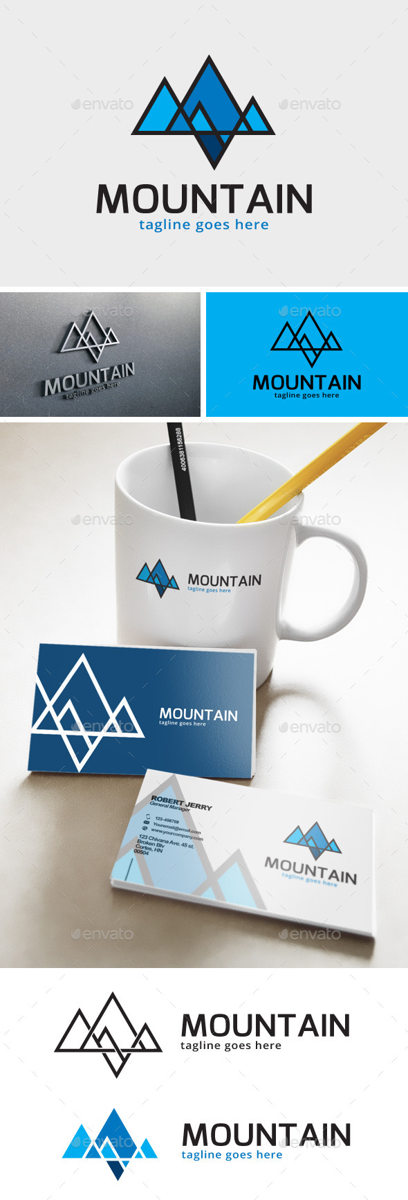 Mountain Line Logo - Nature Logo Templates