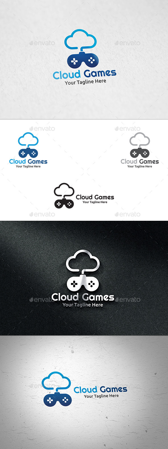Cloud Games Logo - Symbols Logo Templates