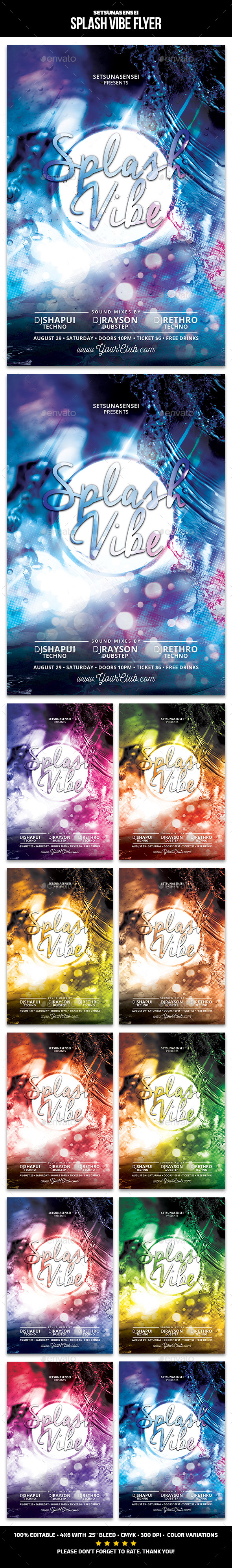Splash Vibe Flyer - Clubs & Parties Events
