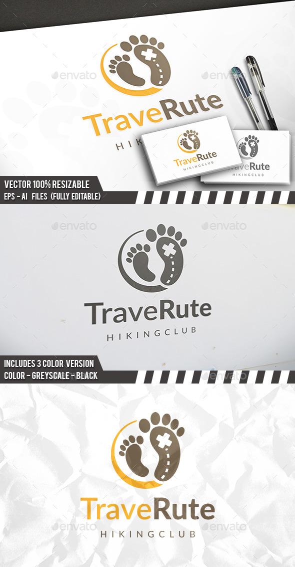 Foot Travel Logo - Humans Logo Templates