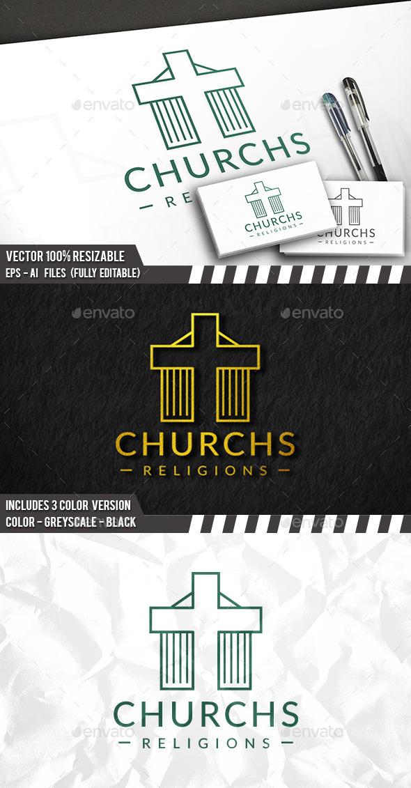Church Line Logo - Buildings Logo Templates