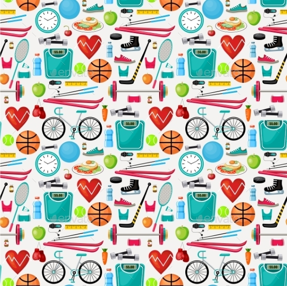 Pattern of a Healthy Lifestyle - Backgrounds Decorative