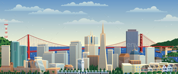 San Francisco - Buildings Objects