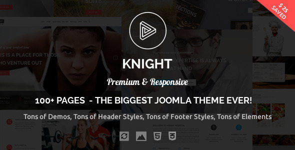 Knight – Responsive Multi-Purpose Joomla Theme