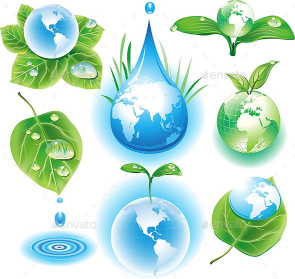 The Concept of Ecology Symbols - Nature Conceptual
