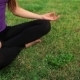Young Girl Doing Yoga In The Park - VideoHive Item for Sale