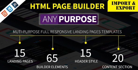 AnyPurpose Landing Page Builder & Template Styles