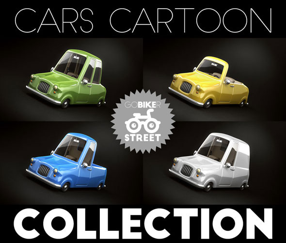 Cars Cartoon Collection - 3DOcean Item for Sale