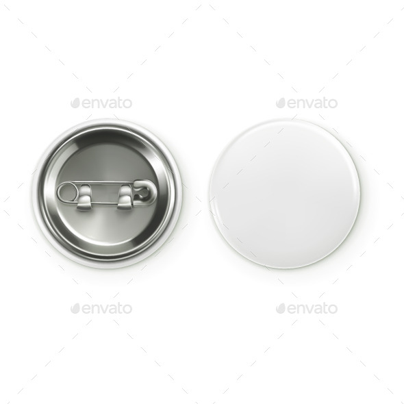 Blank White Badge - Vectors