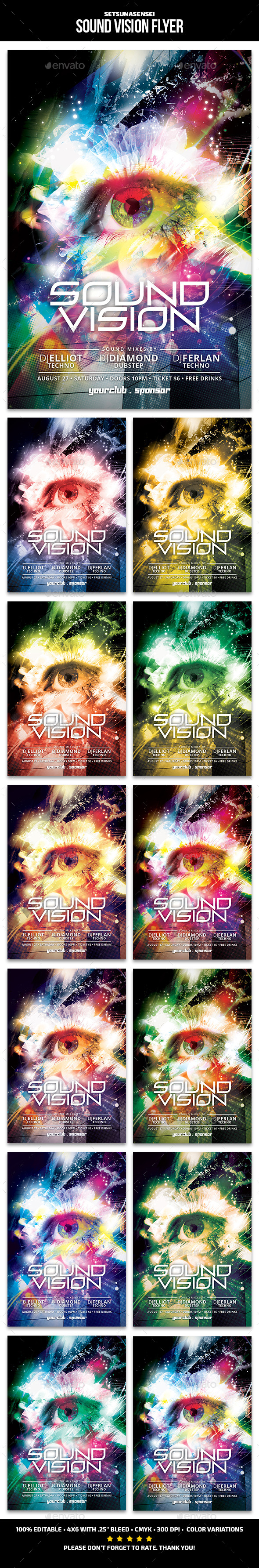 Sound Vision Flyer - Clubs & Parties Events