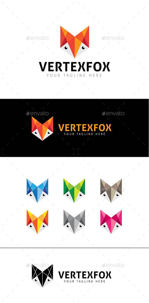 Vertex Fox Logo Template - Animals Logo Templates